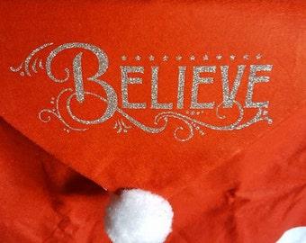 BELIEVE Santa Chair cover