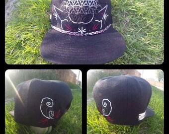 Flower of Life OOAK Mandala Hat