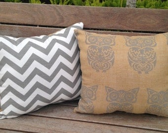 Burlap owl pillows