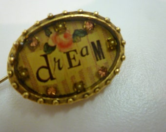 "MAXIMAL ART BROOCH. Maximal Collectible Handcrafted Jewelry. ""Dream"". Handcrafted Oval-Shaped Pin by Craftsman John Wind from Maximal Art."