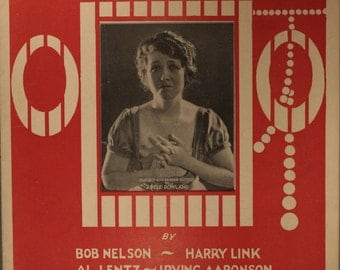 "1922 Sheet Music, ""Boo Hoo Hoo"" As Sung By Adele Rowland"