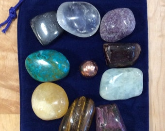 Premium Chakra Set, Large Premium Chakra Stones, Healing Stone, Healing Crystal, Spiritual Stone, Meditation, Tumbled stone
