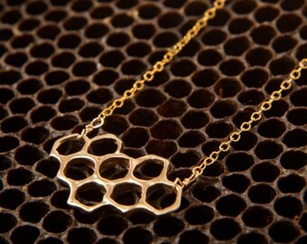 Small Cast Honeycomb Necklace