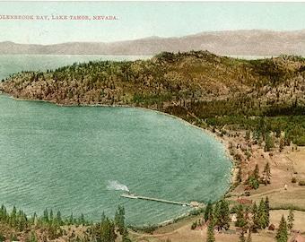 Glenbrook Bay Lake Tahoe Nevada Vintage Postcard 1911