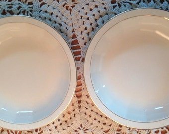 Antique Knowles Soup Bowls - Set of 2