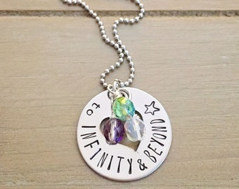 To Infinity and Beyond Buzz Lightyear Toy Story Inspired Love Couples Necklace
