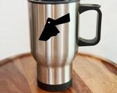 Jordan Stainless Steel Travel Mug. Hometown, Custom, Coffee, Stainless Steel, Mug