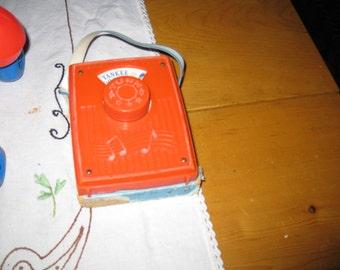 vtg fisher price radio music box 1975 number 779 Yankee Doodle Dandy free ship