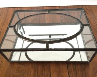 Boho Glass Terrarium Trinket Box