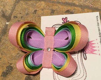 Butterfly ribbon sculpture bow