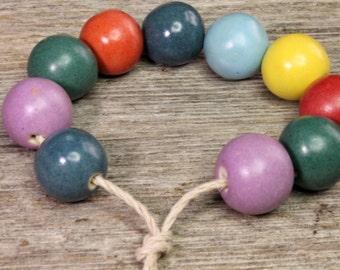 Beads - Ceramic Bead Set - Ceramic beads - Eclectic Prairie   [520]