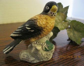 Vintage meadow lark bird ceramic figurine used