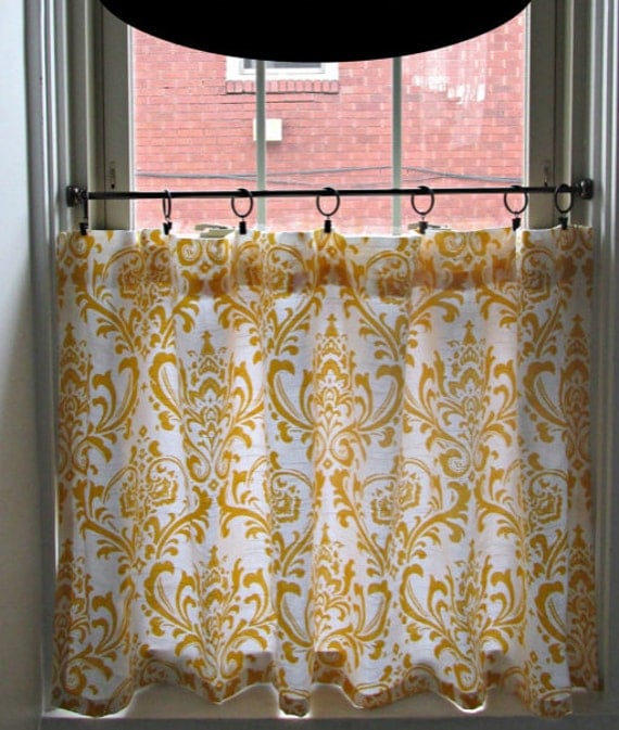 damask cafe curtain choose color window by frostinghomedecor