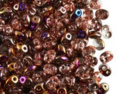 20gr Czech Glass Two-Hole Seed Beads SuperDuo 2.5x5mm  Crystal Sliperit AB (rk1093)