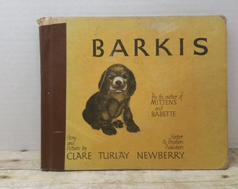 Barkis, 1938,Clare Turlay, Harper and brothers publishers, READ DESCRIPTIONS, vintage kids book