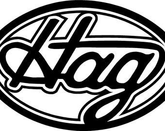 "merle haggard ""hag"" vinyl decal sticker"