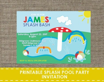 School pool party etsy - Pool school 123 ...