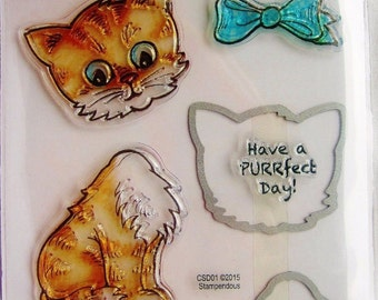 Stampendous Stamp and Die Cut set - acrylic KITTEN CAT KITTY Csd02 cc02 SD044