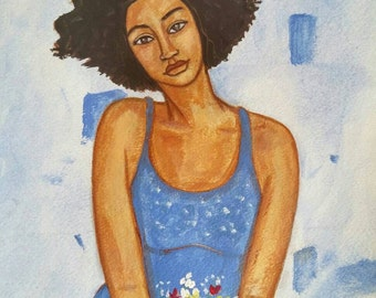 Original African American portrait painting