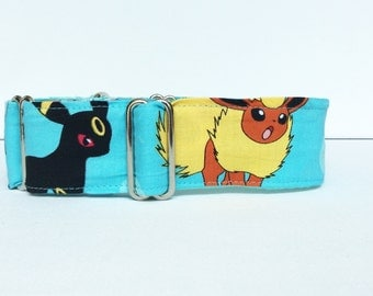 Video games in blue martingale collar (dog collar, martingale, greyhound, cotton, blue, games, fun)