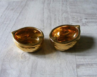 Antique French Art Deco Salt and Pepper Cellars,signed ROBJ ,PARIS.