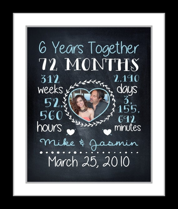 6th Anniversary Wedding Anniversary Gift 6th Anniversary Gift