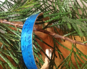 Blue Birds Eye Maple laminate bracelet