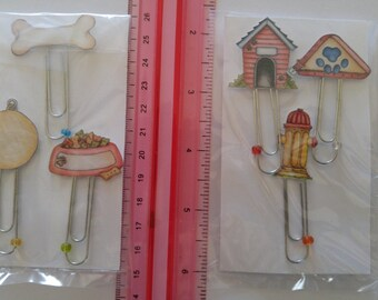 CLEARANCE SALE * Day planner clip Puppy dog Dayplanner paperclips Bookmark Scrapbook embellishments paper clip Page Clip planner bookmark