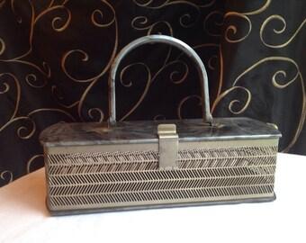 MW Lucite & Metal Handbag Made in USA
