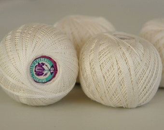 Vintage crochet thread Unused vintage crochet thread USSR Iris crochet thread White crochet thread