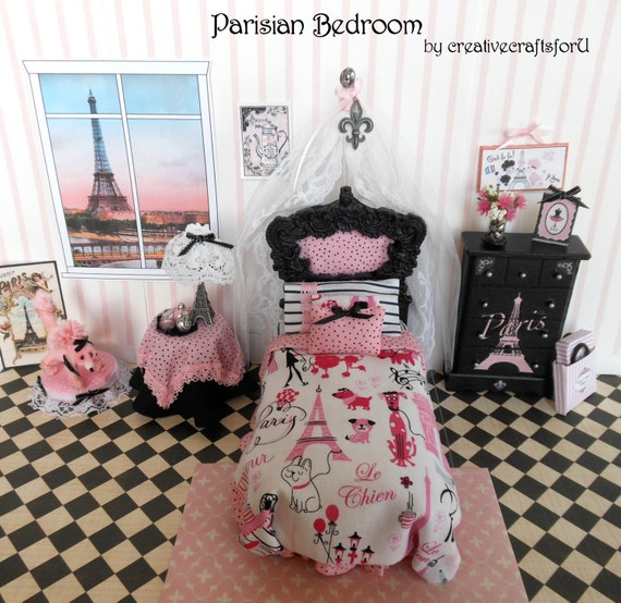 Dollhouse Bedroom Set Parisian Bedroom By CreativecraftsforU