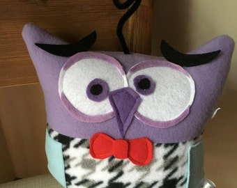 Fear Owl Plushie -Inspired by the movie Inside Out- Fear Plush Owl= Inspired by the Character Fear