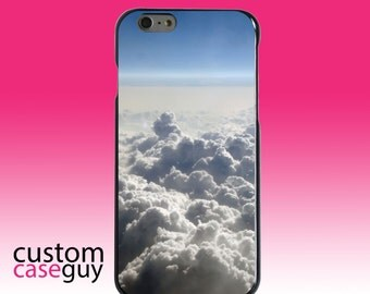 Hard Snap-On Case for Apple 5 5S SE 6 6S 7 Plus - CUSTOM Monogram - Any Colors - Blue Sky Above Clouds