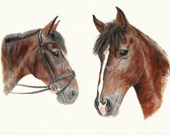 Horse acrylic A3 original painting