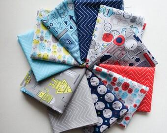 Cloud9 Cosmic Convoy - Fat Quarter Bundle - Organic Cotton - Michéle Brummer Everett - 11 Fabrics