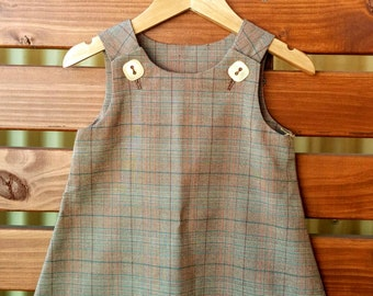 Girls Winter Pinafore Dress - size 2