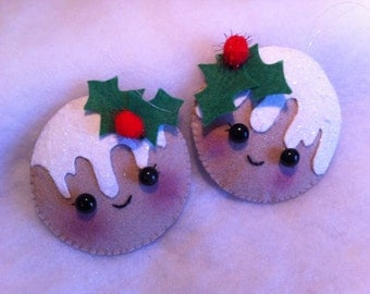 Felt Gingerbread Ornaments x 2