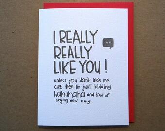 Card - I LIKE YOU