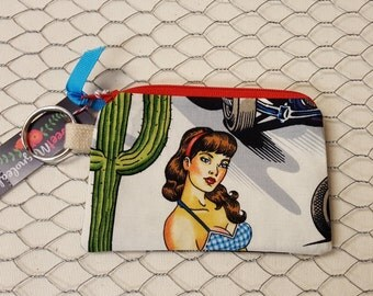 Credit card pouch, Coin pouch, Coin purse, Alexander Henry, Hot rods