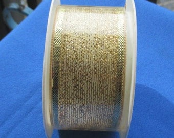 Retro Gold Colored Metallic Ribbon