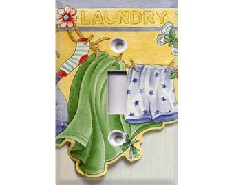 Laundry Time Light Switch Cover