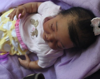 Reborn biracial Avery with beating heart