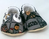 Ready to ship! 3-6 month Star Wars- The Force Awakens Baby Shoes BB-8 Baby Booties for Boys or Girls