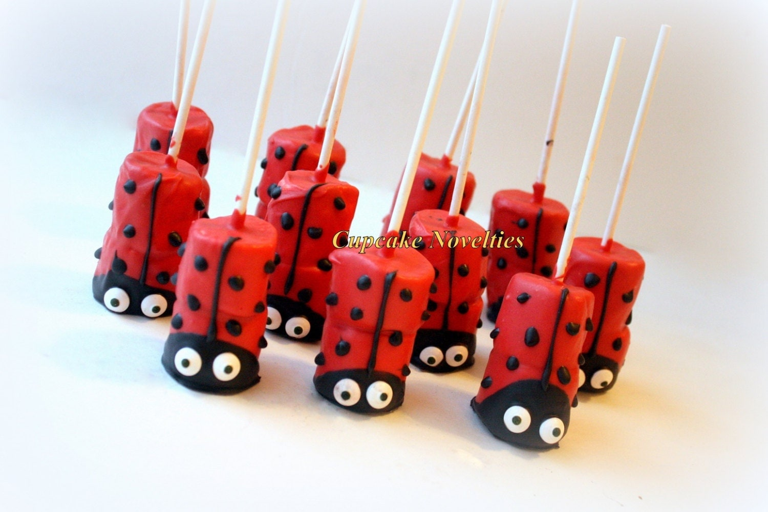 ladybug birthday party favors dessert chocolate dipped pops day edible favor cookies ladybug baby