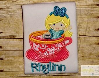 Disney shirt Teacup shirt for girls Disney teacups ride shirt birthday shirt princess birthday shirt for girls