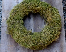 Moss Wreath, Natural Wreath, Wreath, Moss, Mossy Wreath, Rustic Decor, Wedding Decor, Wedding Wreath,  Tabletop Decor, Candle Ring, Nature