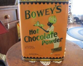Vintage Bowey's Hot Chocolate Powder Tin