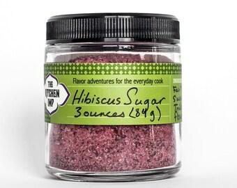 BULK Organic HIBISCUS SUGAR - 8 or 16 oz bag
