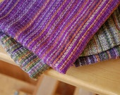 "SALE: Handwoven ""Plum"" Cowl with Merino/Silk Weft"