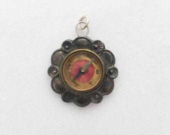 1910s Germanh Compass Fob / Miniature Compass Pendant